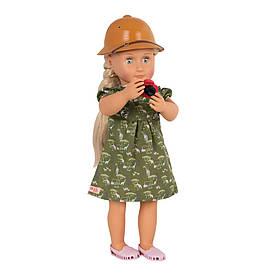 Лялька OUR GENERATION Deluxe Найя любителька сафарі з книгою 46 см BD31164ATZ