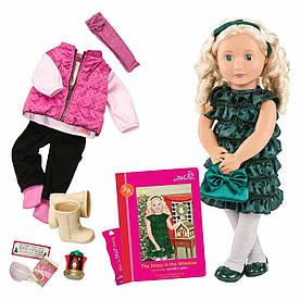 Лялька OUR GENERATION DELUXE Одрі-Енн з книгою 46 см BD31013ATZ
