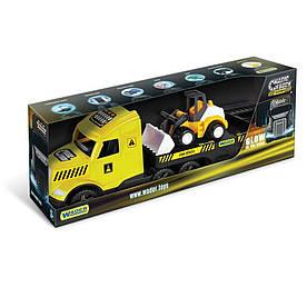 Грузовик с бульдозером Wader Magic Truck Technic желтый с черным (36430)