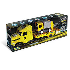 Грузовик с мусоровозом Wader Magic Truck Technic желтый с серым (936440)
