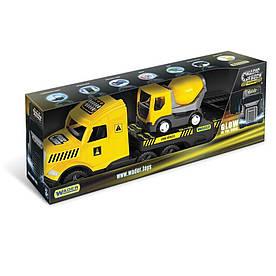 Грузовик с бетономешалкой Wader Magic Truck Technic желтый с черным (36460)