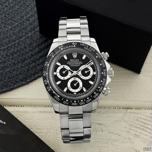 Rolex Daytona Metal Silver-Black-Black