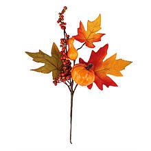 Кленовая ветвь с тыквой, 40 см.