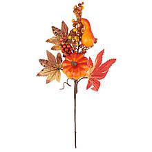 Декоративная осенняя ветвь, 32 см.