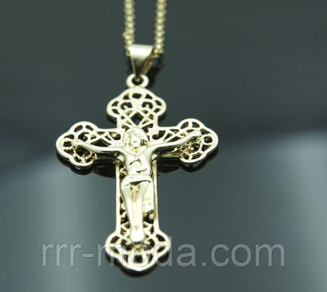 Ювелирные позолоченные кулоны с крестами и иконами FJ Fallon. Элитные позолоченные украшения от бижутерии оптом RRR.
