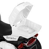 Детский электро мотоцикл на аккумуляторе Suzuki M 4204 для детей 3-8 лет EVA колеса белый, фото 2