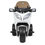 Детский электро мотоцикл на аккумуляторе Suzuki M 4204 для детей 3-8 лет EVA колеса белый, фото 3