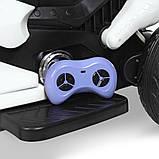 Детский электро мотоцикл на аккумуляторе Suzuki M 4204 для детей 3-8 лет EVA колеса белый, фото 5