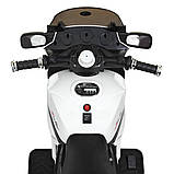 Детский электро мотоцикл на аккумуляторе Suzuki M 4204 для детей 3-8 лет EVA колеса белый, фото 6