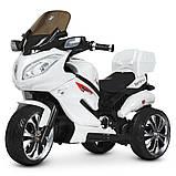 Детский электро мотоцикл на аккумуляторе Suzuki M 4204 для детей 3-8 лет EVA колеса белый, фото 9