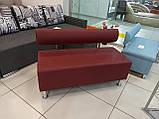 Диван BNB Solo PLUS 1200x540x750 червоний. Для школи, лікарні, адміністратора, очікування, фото 7