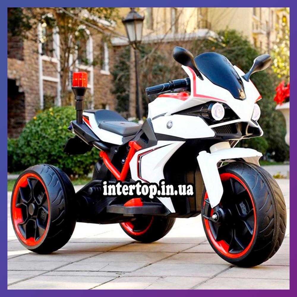 Детский электро мотоцикл на аккумуляторе BMW M 4635 для детей 3-8 лет EVA колеса белый