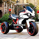 Детский электро мотоцикл на аккумуляторе BMW M 4635 для детей 3-8 лет EVA колеса белый, фото 5