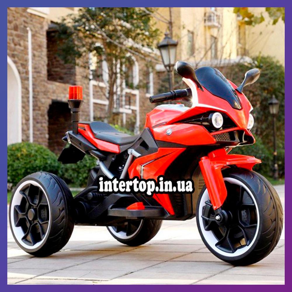 Дитячий електро мотоцикл на акумуляторі BMW M 4635 для дітей 3-8 років EVA колеса червоний