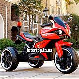 Дитячий електро мотоцикл на акумуляторі BMW M 4635 для дітей 3-8 років EVA колеса червоний, фото 3