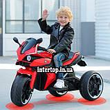 Дитячий електро мотоцикл на акумуляторі BMW M 4635 для дітей 3-8 років EVA колеса червоний, фото 4