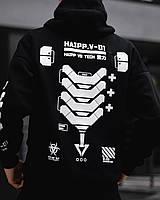 Мужской зимний спортивный костюм Chain black черный утепленный молодежный