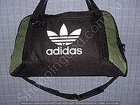 Багажная сумка Adidas 013678 большая (55х33х22, см) черная с зеленым спортивная дорожная текстиль