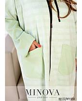 Легкий куртка-кардиган асиметричного крою на змійці, Великий розмір від 50-52 до 66-68, фото 2