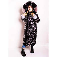 Зимнее пальто-куртка для девочки Climber с светоотражателями, рост 110,116,122,146,152 черное