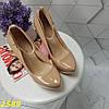 Туфли с застежкой ремешком на шпильке с платформой бежевые, фото 8