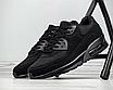Мужские кроссовки черные нубук текстиль демисезонные, фото 2