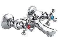 Смеситель настенный для ванны двухвентильный ZERIX ZOM 827 кран смеситель для ванной литой из силумина Чехия