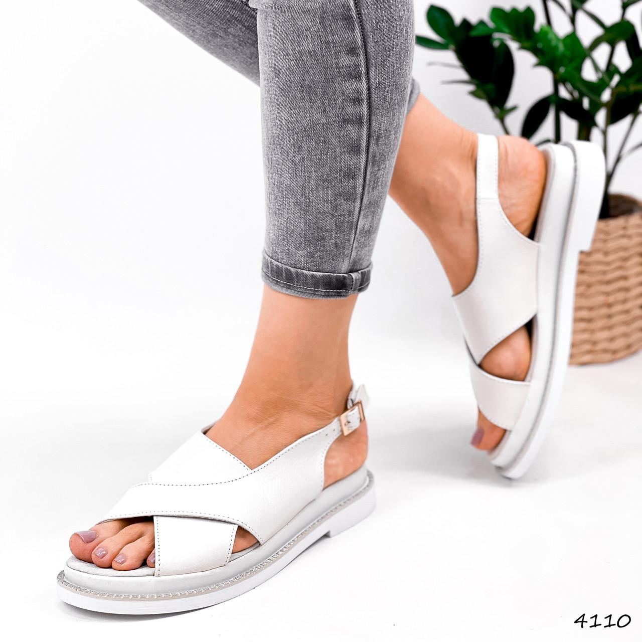 Босоніжки жіночі Fix білі 4110