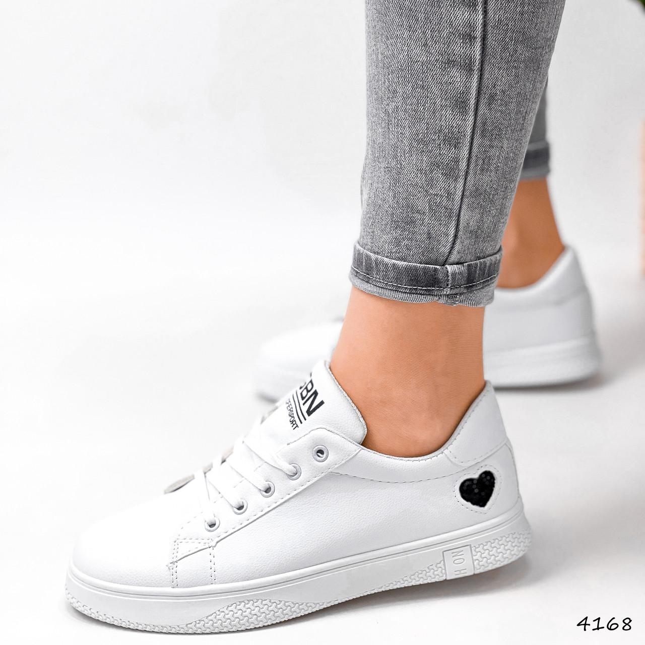 Кроссовки женские Lovar белый + черный 4168