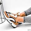 Кроссовки женские Takana белые + коричневый + черный 4173, фото 5