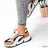 Кроссовки женские Takana белые + коричневый + черный 4173, фото 10