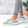 Кросівки жіночі Adis сірі + білий 4181, фото 6