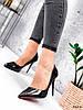 Туфлі жіночі Alvar подвійні чорні + бронза 4225, фото 10