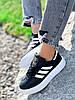 Кроссовки женские Adis черные + белый 4260, фото 3
