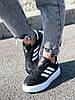 Кроссовки женские Adis черные + белый 4260, фото 7