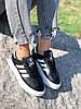 Кроссовки женские Adis черные + белый 4260, фото 8