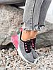 Кроссовки женские Lotte серые + черный + розовый 4271, фото 2