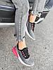 Кроссовки женские Lotte серые + черный + розовый 4271, фото 3