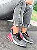 Кроссовки женские Lotte серые + черный + розовый 4271, фото 4