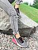 Кроссовки женские Lotte серые + черный + розовый 4271, фото 6