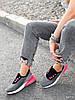 Кроссовки женские Lotte серые + черный + розовый 4271, фото 7