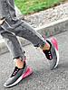 Кросівки жіночі Lotte сірі + чорний + рожевий 4271, фото 8