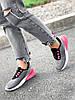 Кросівки жіночі Lotte сірі + чорний + рожевий 4271, фото 9