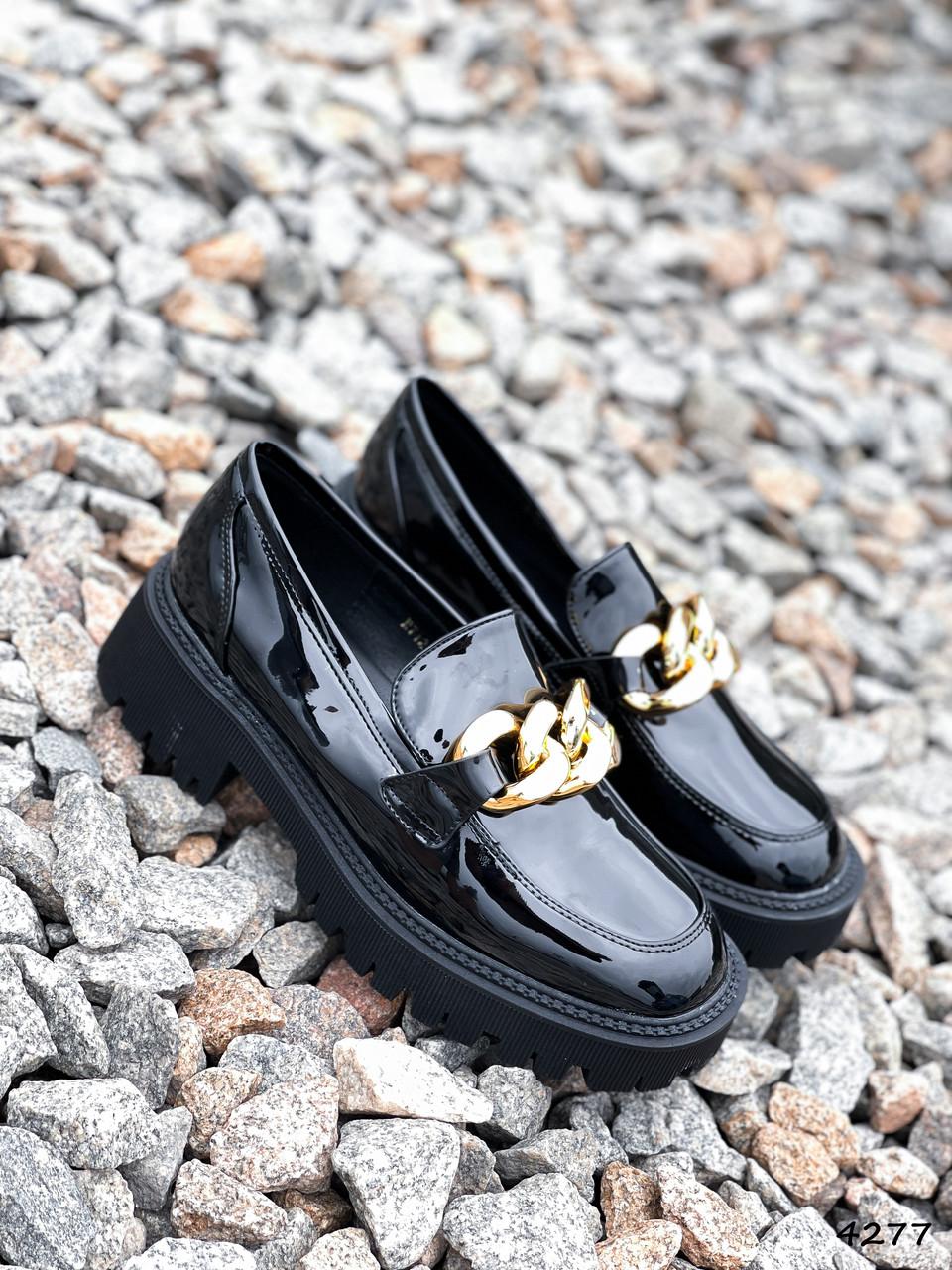 Туфли лоферы Zanzi черные 4277