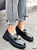 Туфли лоферы Zanzi черные 4277, фото 4