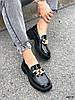 Туфли лоферы Zanzi черные 4277, фото 6