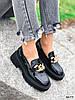 Туфли лоферы Zanzi черные 4277, фото 10