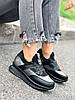 Кроссовки женские Saimo черные + серебро 4285, фото 2