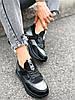 Кроссовки женские Saimo черные + серебро 4285, фото 3