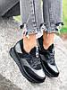 Кроссовки женские Saimo черные + серебро 4285, фото 4